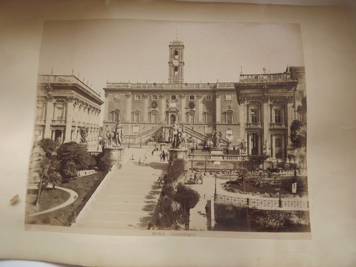 Unknown, Rome 1880's - Albumen photos X4 Early morning on the