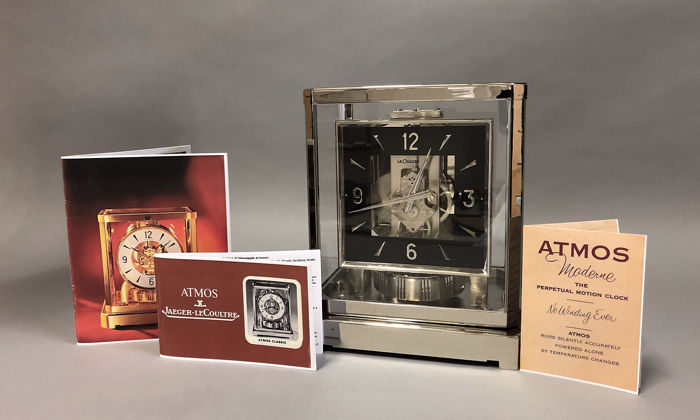 Atmos clock numbered 168259 - 2 year warranty - Nickel-plated - Period 1960 - 1970