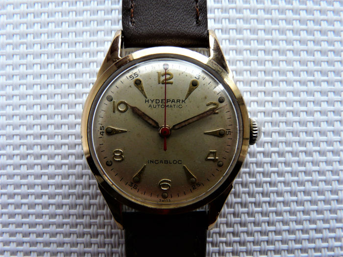 H Y D E P A R K  (Grosjean Frères, La Chaux-de-Fonds, SUISSE) - 'MEDICUS' Style Dress Watch - 7115911 551 - Herren - World War 2 - 1944/5