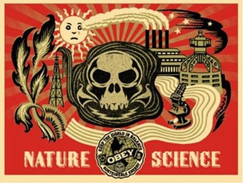 Shepard Fairey (OBEY) - Nature Science Gold