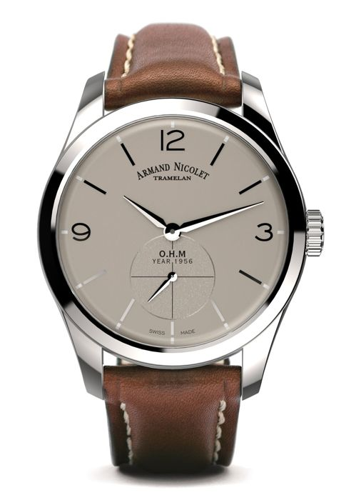 Armand Nicolet - LB6 Small Seconds Limited Edition - A134AAA-GR-P140MR2 - Heren - 2011-heden