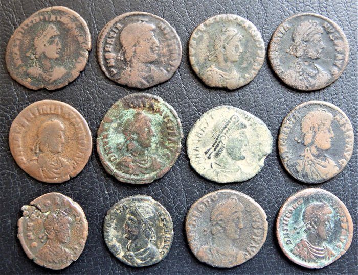 Roman Imperial - Lot of 12 Bronze coins - AE19/25mm
