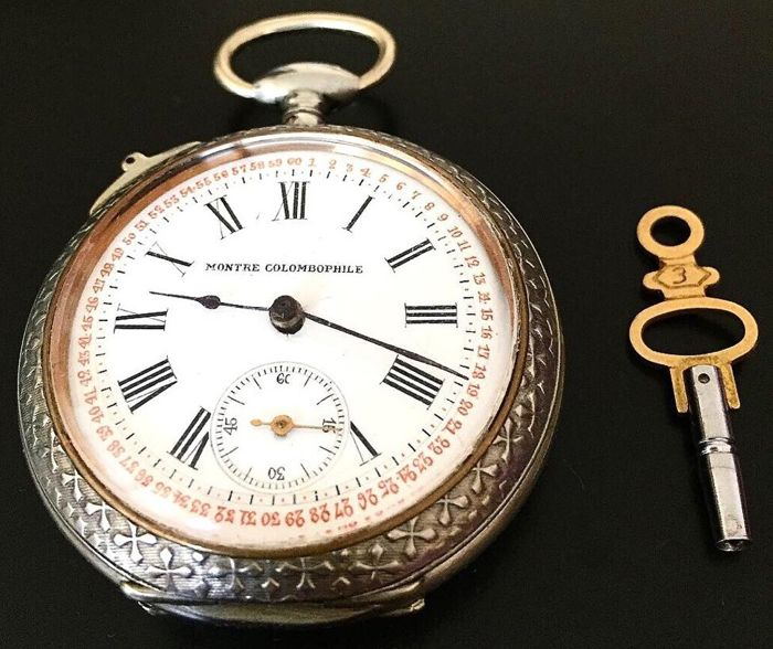 Montre Colombophile - Pocket Watch - NO RESERVE PRICE - Uomo - 1850-1900