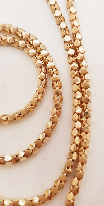 UNOAERRE  - 18 kt Roségold - UNOAERRE Snake Necklace 70s perfect