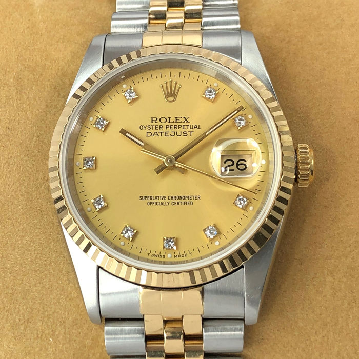 Rolex -  Datejust Diamond Dial - 16233 - Unisex - 1990-1999
