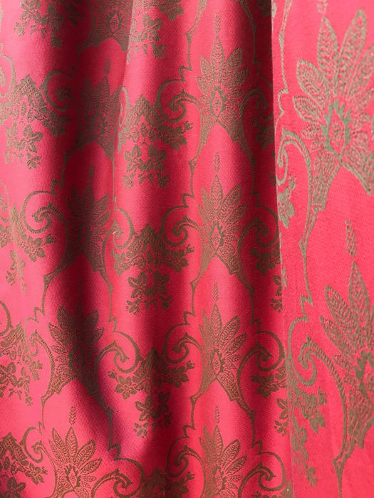 6 m x 130 cm Magnificent damask San Leucio fabric - Baroque - Cotton - 2018