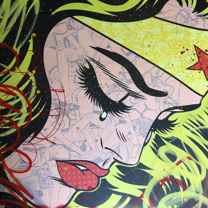 Dillon Boy - Wonder Woman vs Roy Lichtenstein (Blonde) Crying Girl