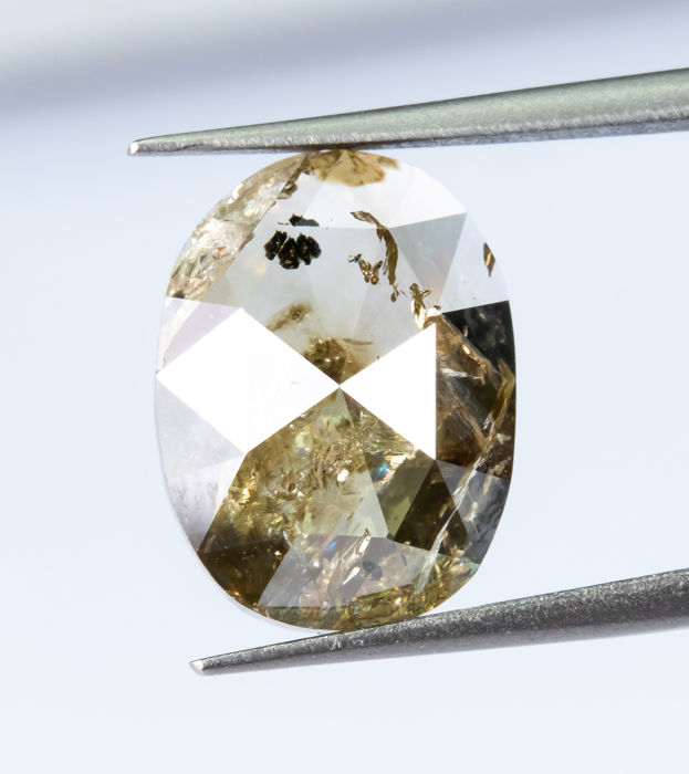 Diamante - 3.43 ct - Natural Fancy Light Yellowish Brown - I2  *NO RESERVE*