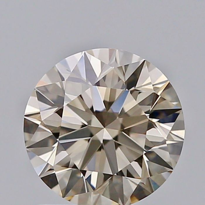 1 pcs Diamant - 1.11 ct - Rond - very light brown - VVS2