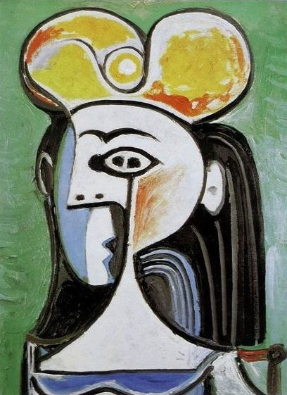Pablo Picasso ( after ) - Girl with Black Hair and Yellow Hat