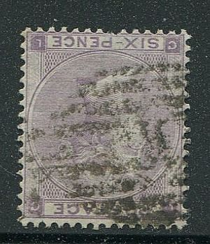 Gran Bretaña - Inglaterra 1862 - 6 pence lilac with hairlines Inverted Watermark - Stanley Gibbons 85Wi
