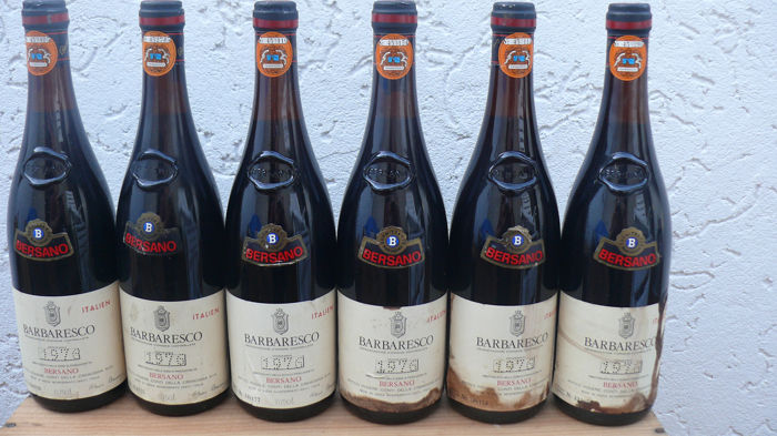 1976 Barbaresco Bersano - Barbaresco - 6 Flessen (0.75 liter)