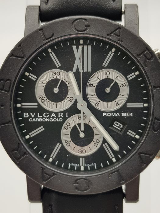 "Bulgari - Carbongold Roma 1884 ""NO RESERVE PRICE"" - BB 38 CL CH - Herre - 2000-2010"
