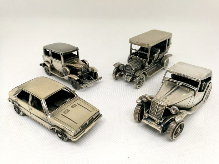 Magnificent Collection of Automobiles in Scala (4) - .800 silver - Italy - Second half 20th century