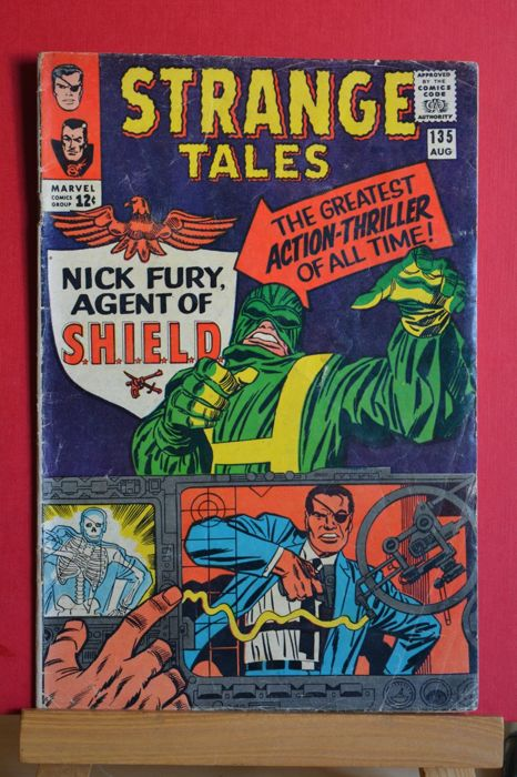 "Strange Tales #135 - Nick Fury, Agent of Shield Part 1 ""The Man for the Job!"" - Brossura - Prima edizione - (1965)"
