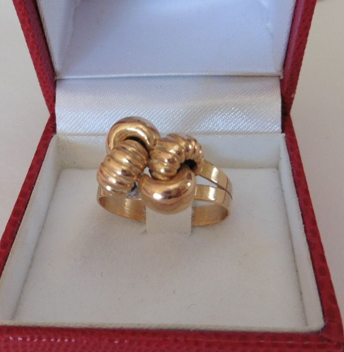 Made in Italy Knot ring - 18 karaat Rood goud - Ring