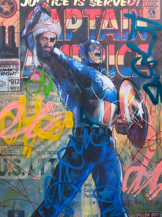 Dillon Boy - Captain America Hysteria Graffiti