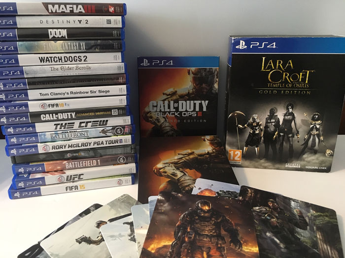 MASSIVE LOT of 19 Sony PS4 Games Inc GOLD EDITION Lara Croft Boxset & Black  Ops III Boxset - Playstation 4 Video Games (19) - In original box -