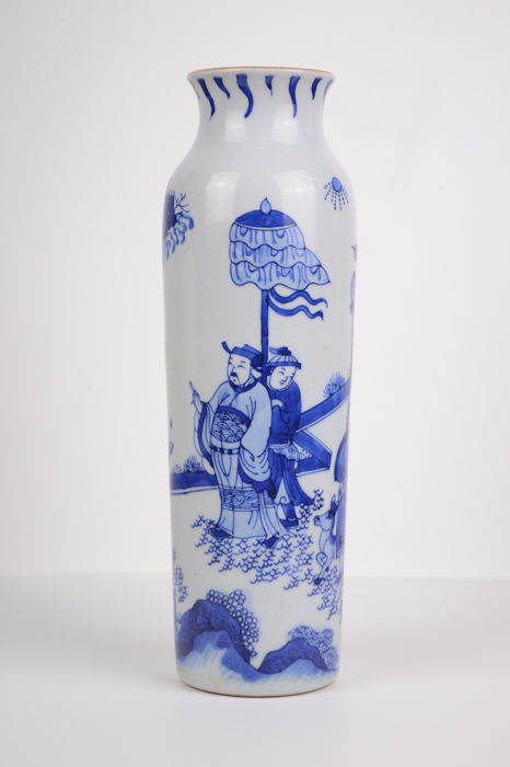 Vase - Blue and white - Porcelain - China - Second half 20th century