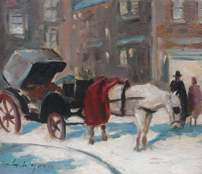 Attributed to Hans Jörg Wagner (1930-2013) - Carriage in the snow