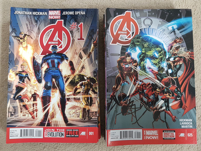 The Avengers Vol 5 - #1-44 Complete Set + Issue #34.1 - Πρώτη έκδοση