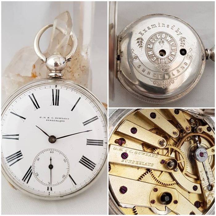 G.H. & C. Gowland Sunderland - pocket watch NO RESERVE PRICE - Heren - 1850-1900