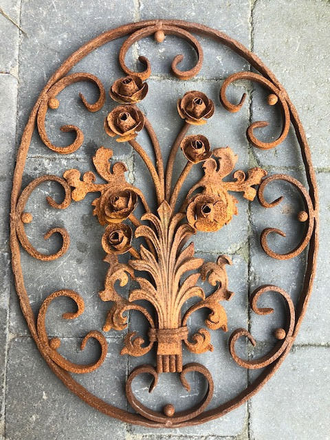 Door grille Ornamental - Iron (wrought) - 20th century