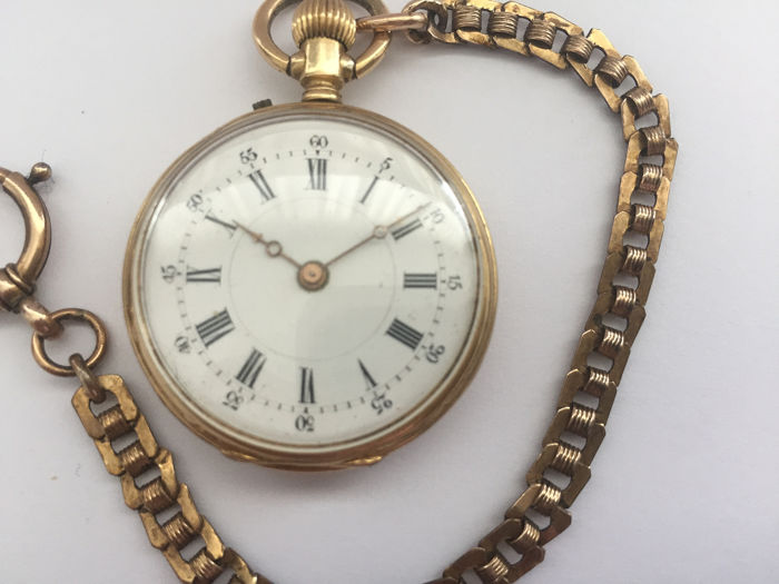 Gouden Remontoir Zakhorloge - NO RESERVE PRICE - Women - 1901-1949