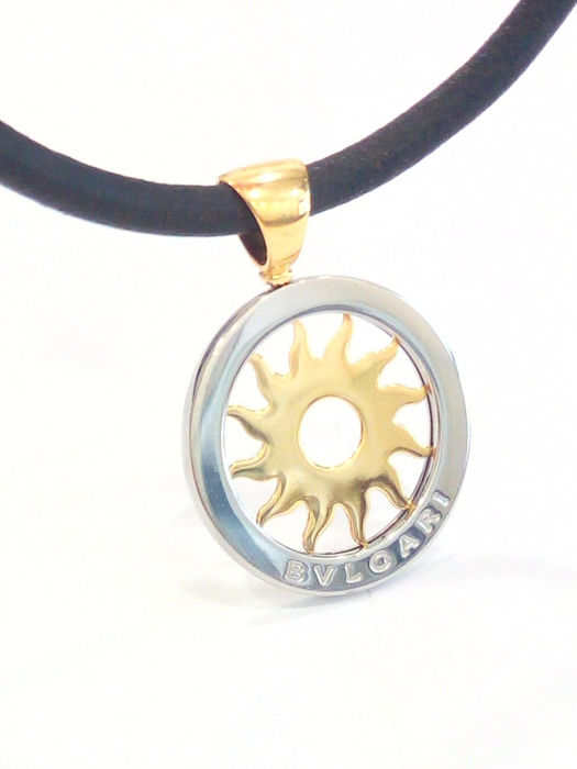 Bvlgari - 18 kt. Steel, White gold, Yellow gold - Necklace with pendant