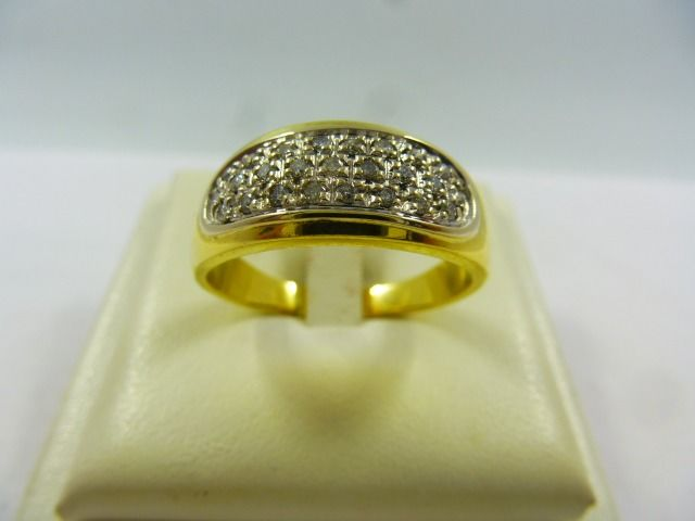 18 kt Gold - Ring - 0.25 ct Diamant
