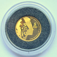 France - 5 Euro 2008 '50th Anniversary of the 5th Republic' - Gold