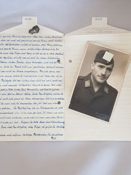 Germany - Air Force - Prisoner of war mail with picture - Catawiki
