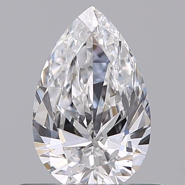 1 pcs Diamante - 0.49 ct - Pera - F - VS2