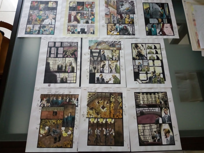 Ghost rider 2099 - Lot of 10 original hand coloured / inked pages with correction - . - (1996)