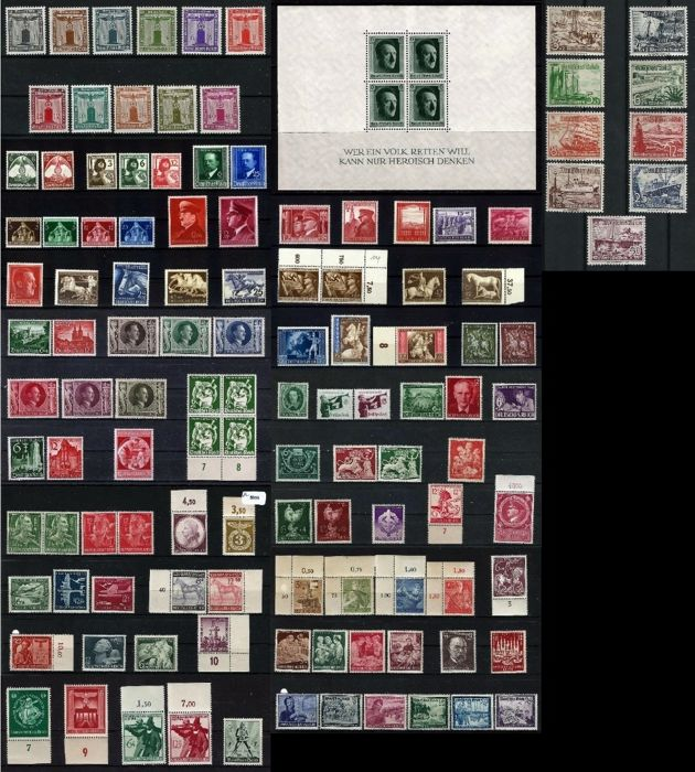 Duitse Rijk 1935/1945 - Batch of 57 sets from the Third Reich