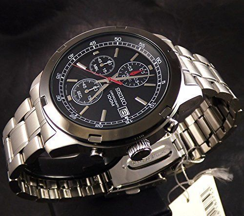 Seiko - Sports Black Chrono Edition - 4T53 Japan Mov - Chronograph - 44mm - Heren - 2011-heden