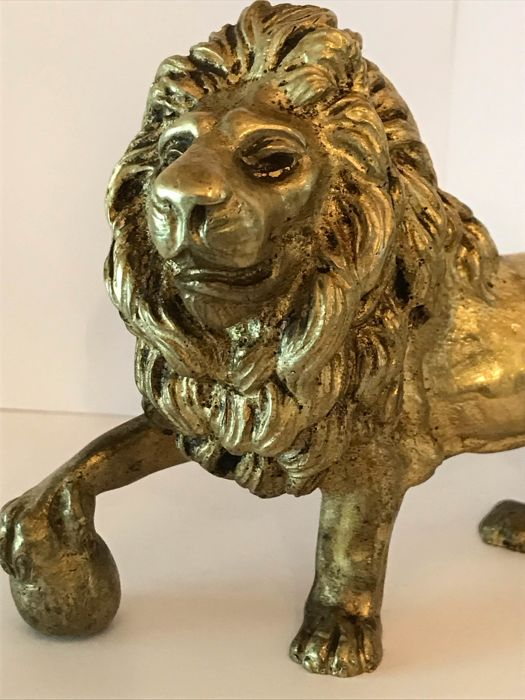 The bronze lion of Waterloo - Bronze (patinated), Gilded - Early 20th century