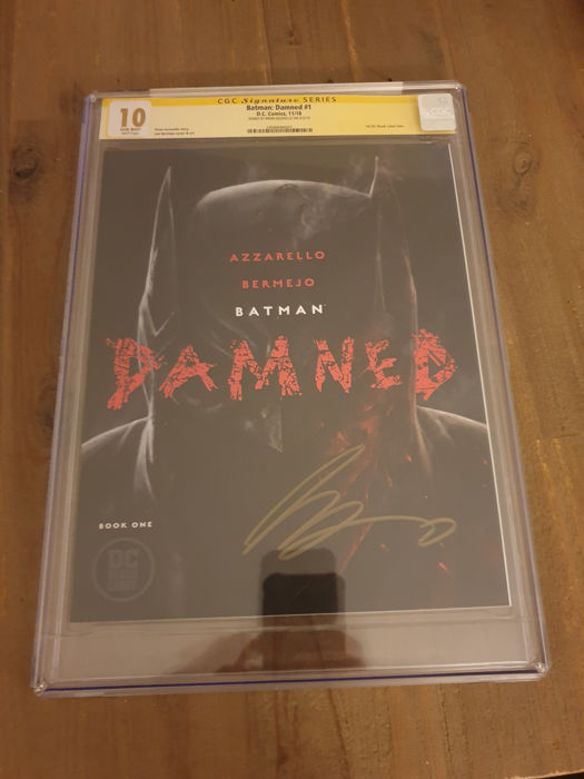 Batman: Damned #1  - 1st Print Uncensored - CGC 10.0 - Signed by Brian Azzarello - OOP - First edition - (2018)