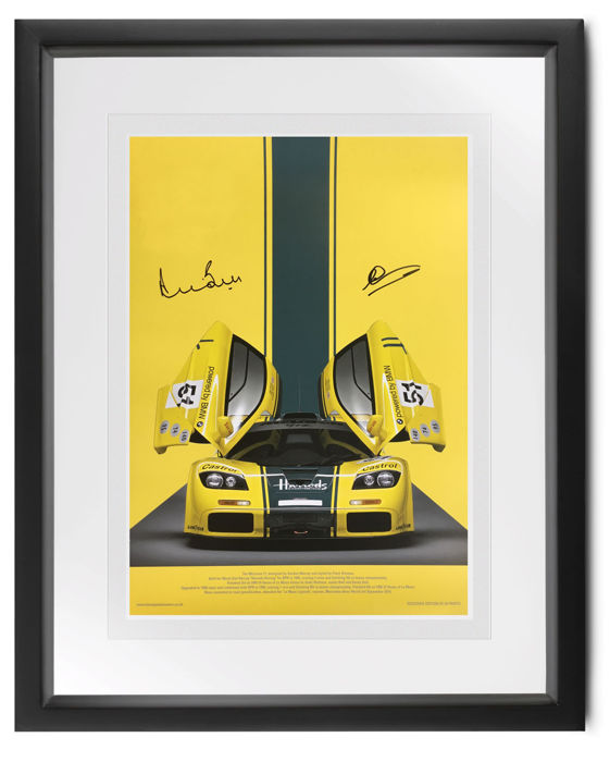 McLaren F1GTR 'Harrods' 1995 - 24h Le Mans - Derek Bell (signed) and Andy Wallace (signed) - Autograph, Picture