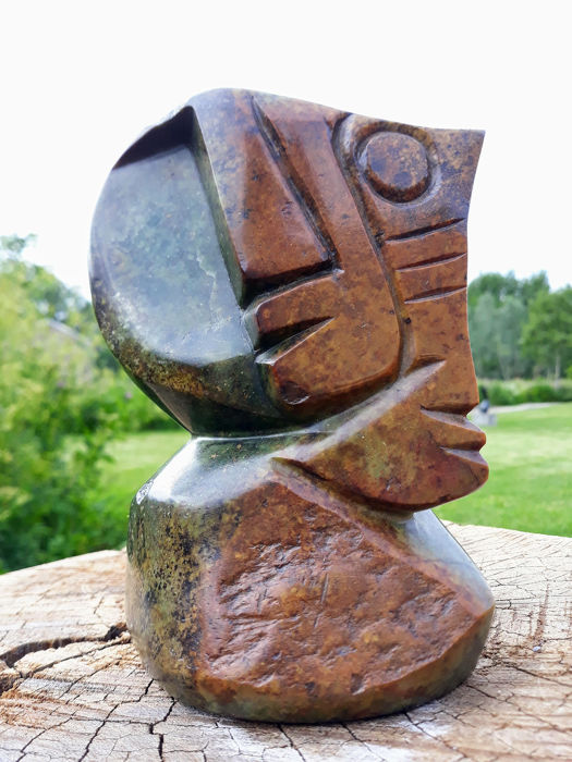 Samson Babama - African face and mask - shona-art