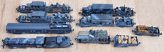 Fleischmann, Minitrix, Roco N - Train unit - 9 pcs. Military train with steam locomotive BR 50 & 8 freight cars - Deutsche Wehrmacht, DR (DRB)
