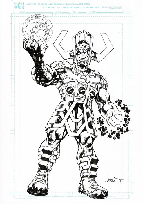 Galactus - Dessin par Kevin West - Loose page - First edition - (2018)
