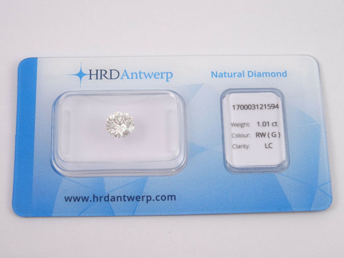1 pcs Diamond - 1.01 ct - Brilliant - G - LC (loupe clean)
