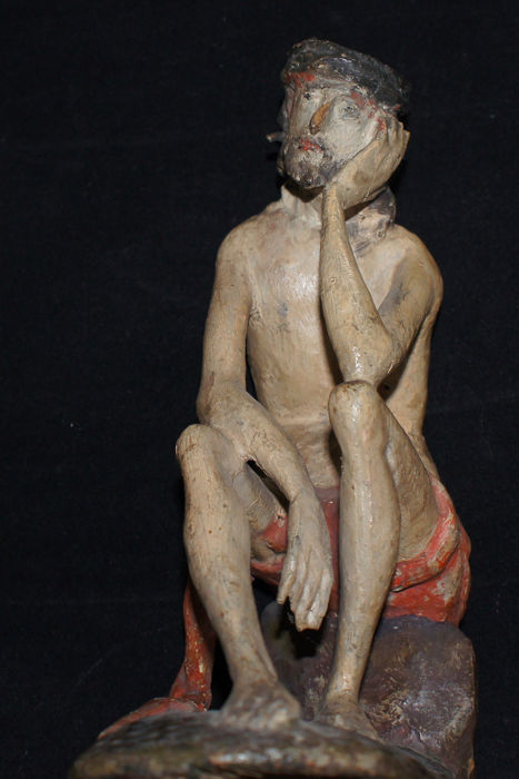 Resting Christ - wood - 18th/19th century