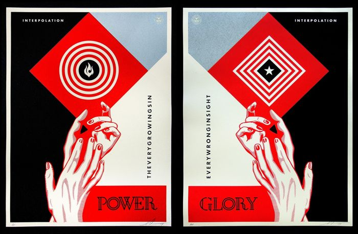 Shepard Fairey (OBEY) - Interpolation Power & Glory