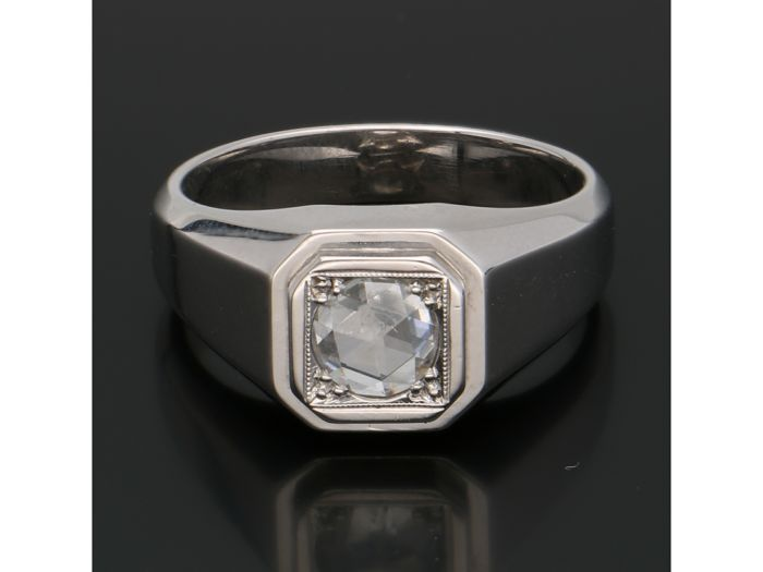 18 karaat Witgoud - Ring - 0.40 ct Diamant