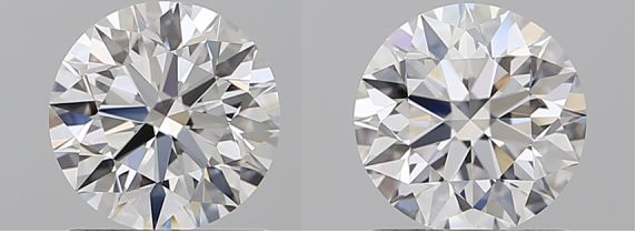 2 pcs Diamonds - 2.04 ct - Brilliant - D (colourless) - IF (flawless)
