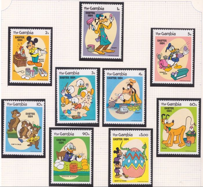 Gambia 1984/1997 - Disney full sets and minisheets