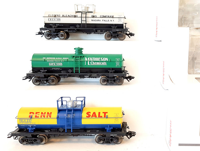 Märklin H0 - 45580 - Freight wagon set - Three four-axle tank wagons - American Car & Foundry (ACF)