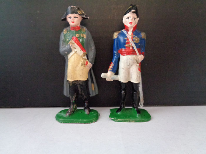 Desconocido - Minifigures - Figure Vintage Lead Soldiers - Napoleon and French Almirall - before 1880